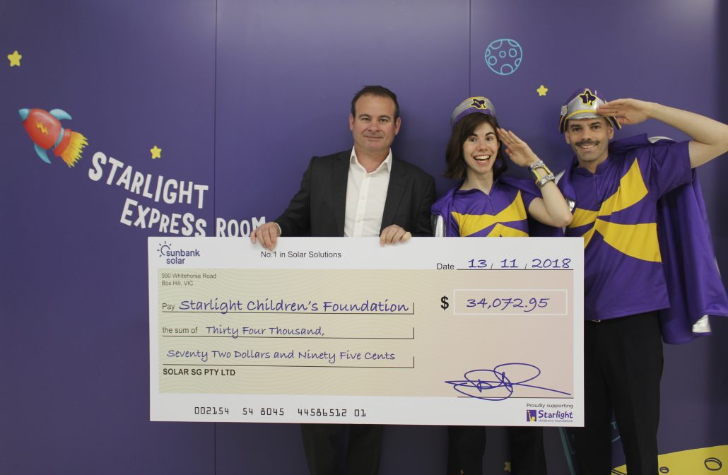 Starlight cheque presentation