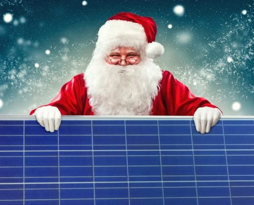 Solar Panel Santa