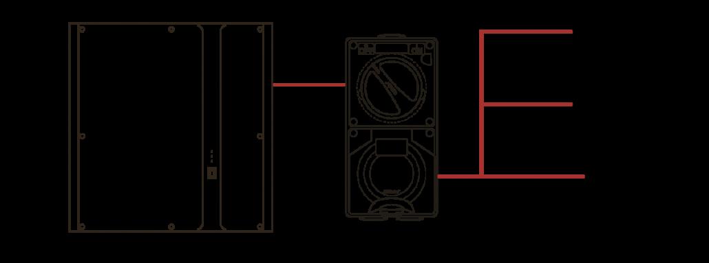 Tech Drawing External Power Socket